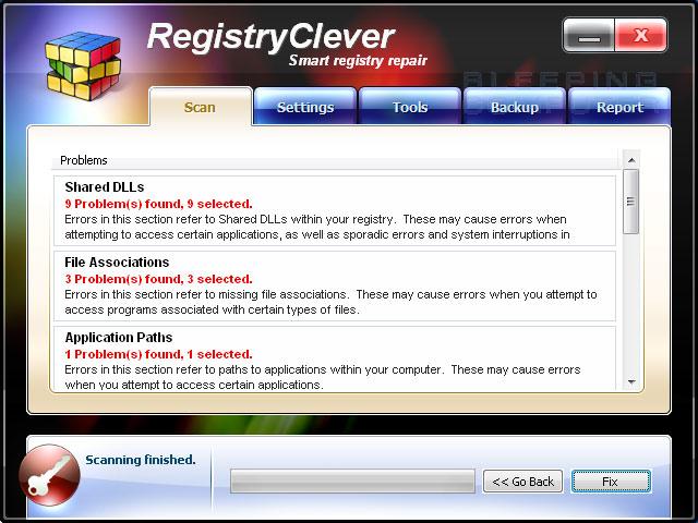 RegistryClever screen shot