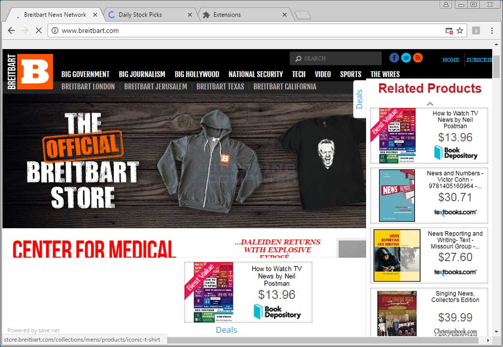 Related Products Ads on Breitbart.com