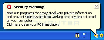 Fake security warning