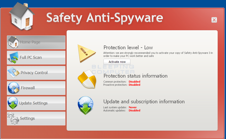 Safety Anti-Spyware screen shot