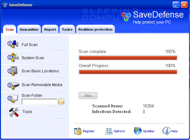 SaveDefense screen shot