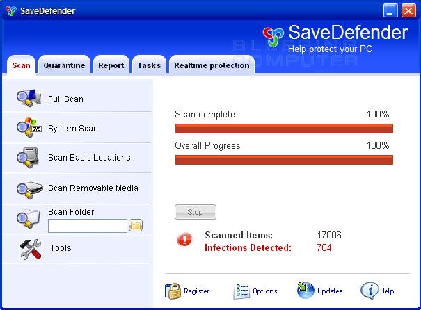 SaveDefender screen shot