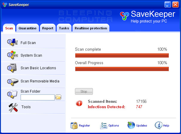 SaveKeeper screen shot
