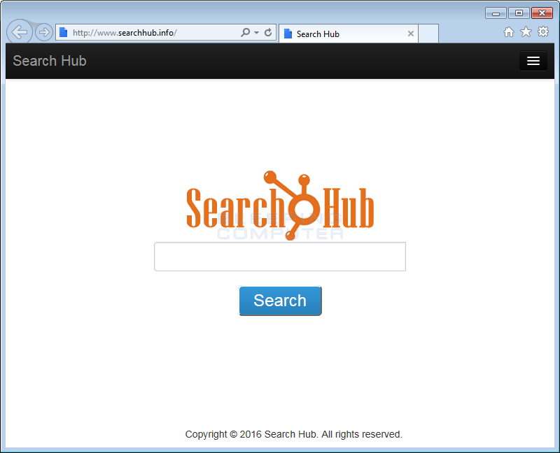 Search Hub Homepage