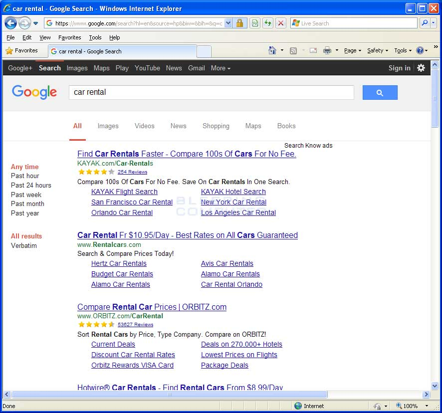 Search Know Ads in Google