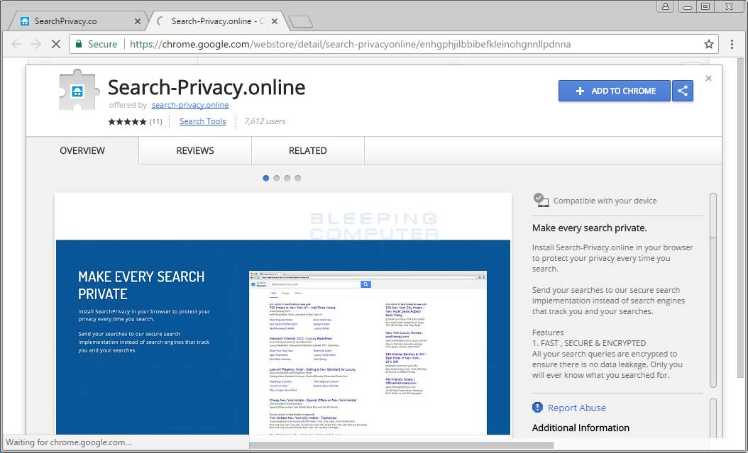 Search-Privacy.online Chrome Web Store Page