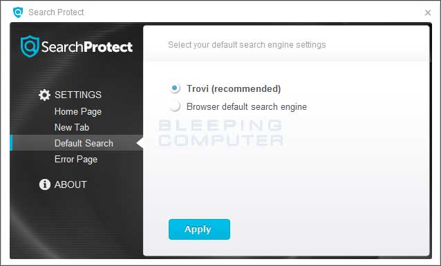 Search Protect Default Search Settings