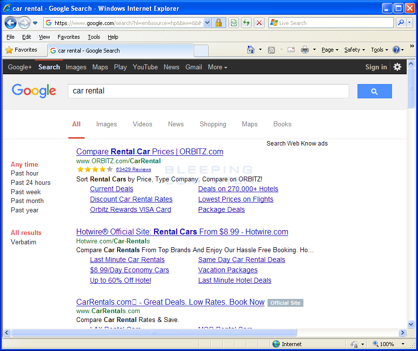 Search Web Know Ads in Google