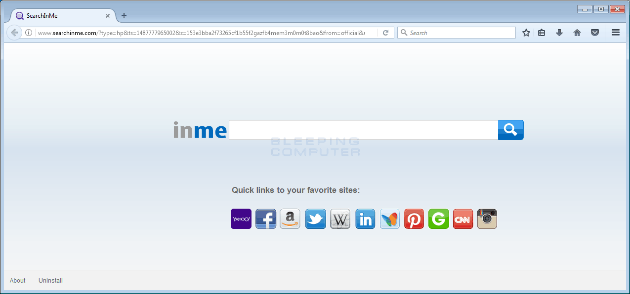 Searchinme.com Browser Hijacker
