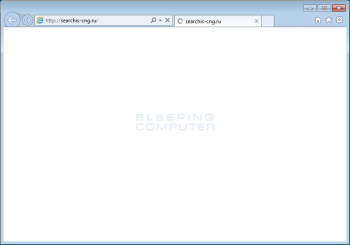 Searchis-cng.ru Browser Hijacker Screenshot