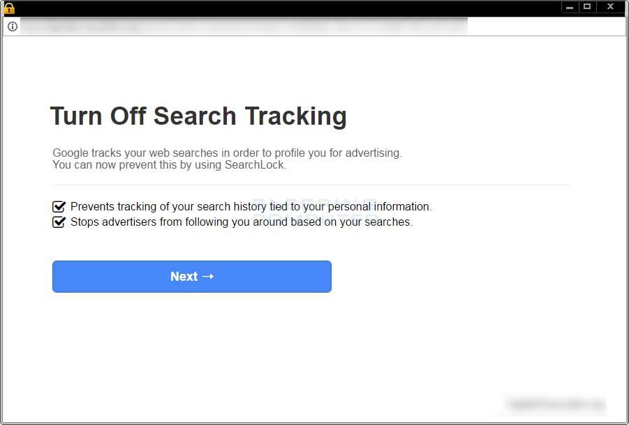 SearchLock Advertisement