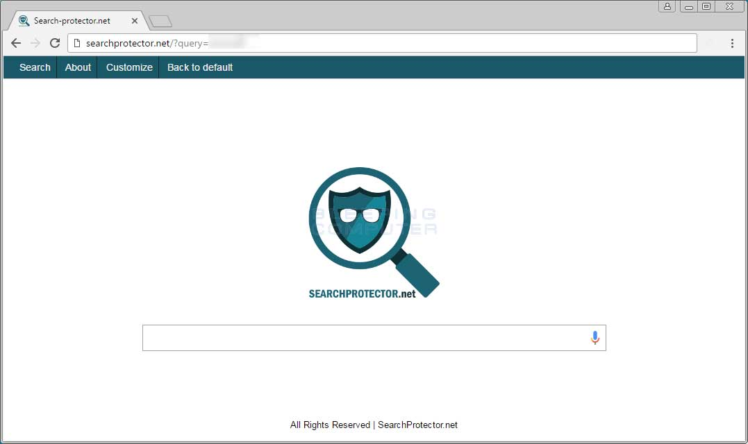 Searchprotector.net New Tab Page