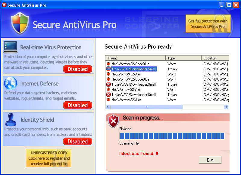Screen shot of Secure Antivirus Pro