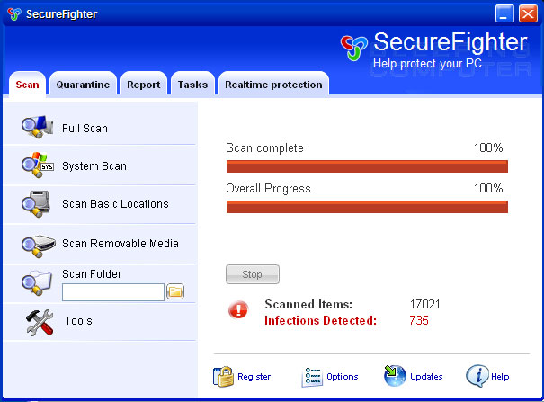 SecureFighter screen shot