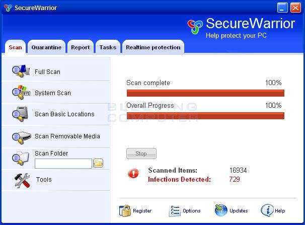 SecureWarrior screen shot