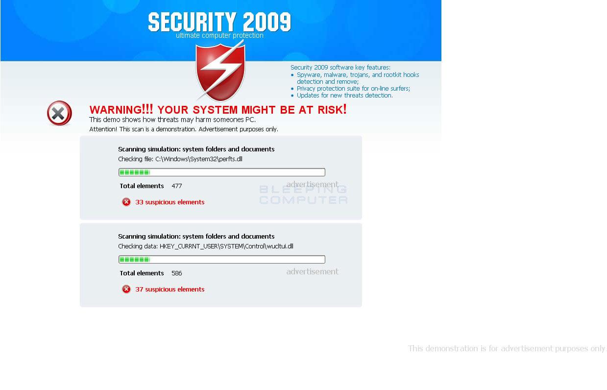 Fake online web scanner