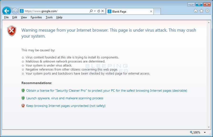 Internet Explorer Hijack