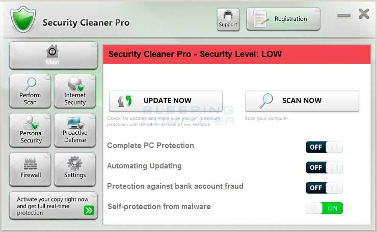 Security Cleaner Pro screen shot