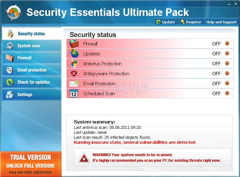 Security Essentials Ultimate Pack screen shot