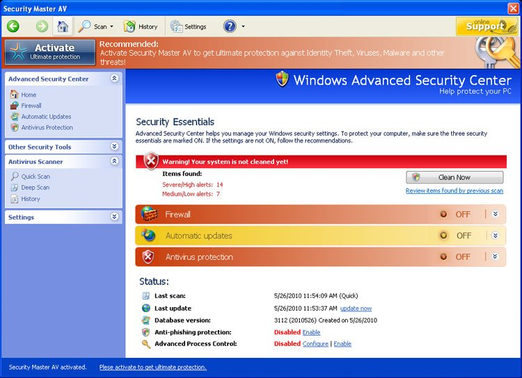 Security Master AV screen shot