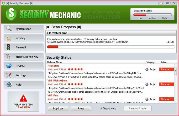 Screen shot of Security Mechanic
