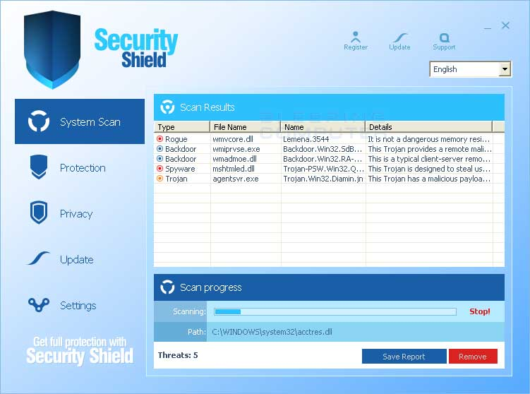 2010 Security Shield screen shot