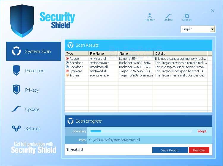 2010 Security Shield screen shot