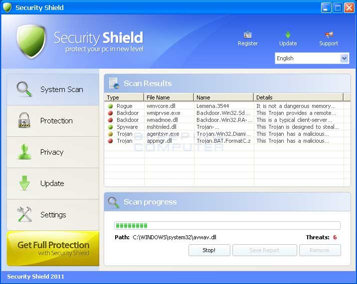 2011 Security Shield screen shot