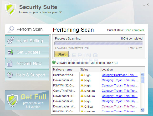 Security Suite Screen shot