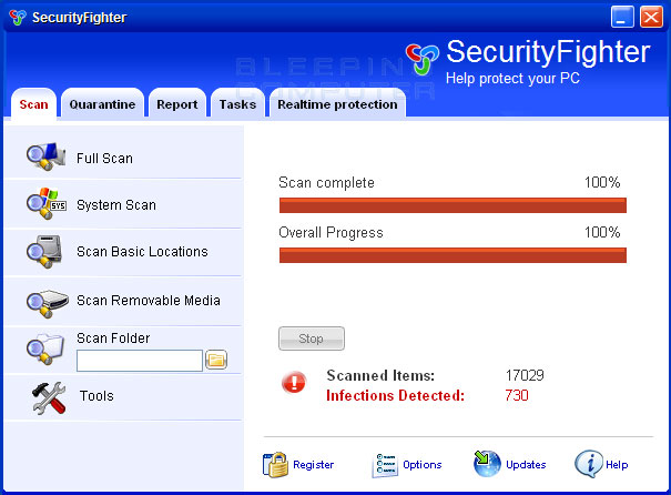 SecurityFighter screen shot