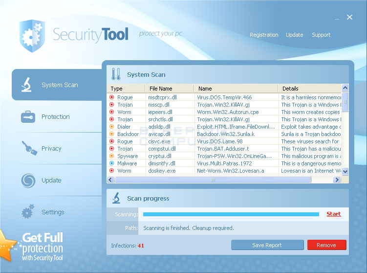 Security Tool screen shot