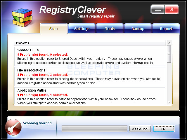 RegistryClever screen shot