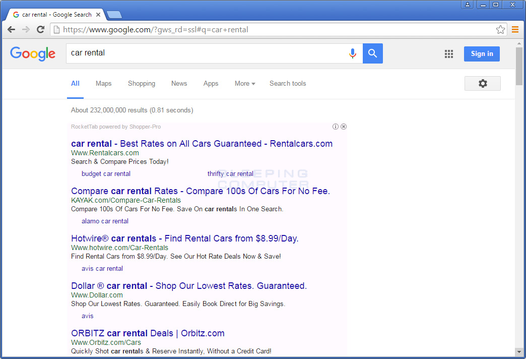 Shopper-Pro Ads in Google