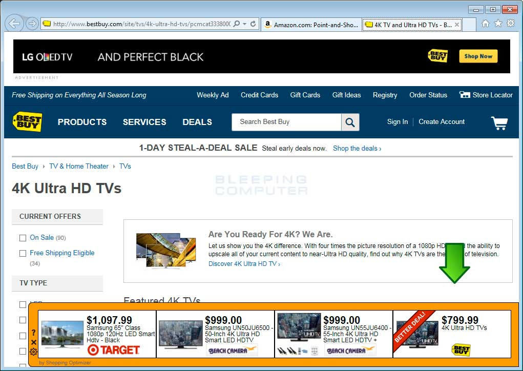 Shopping Optimizer ads on Best Buy