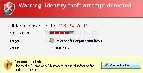 Fake Identity Theft Alert