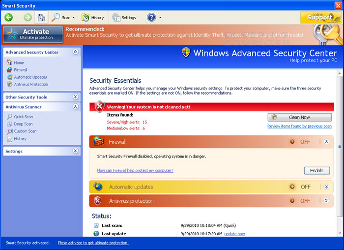 Smart Security screen shot