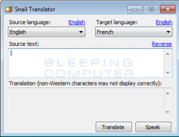Snail Translator Screenshot