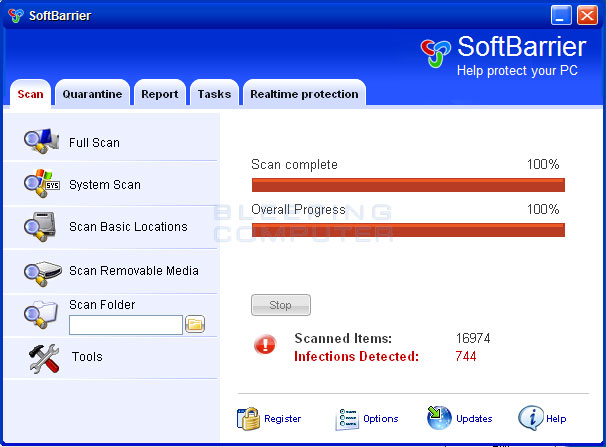 SoftBarrier screen shot