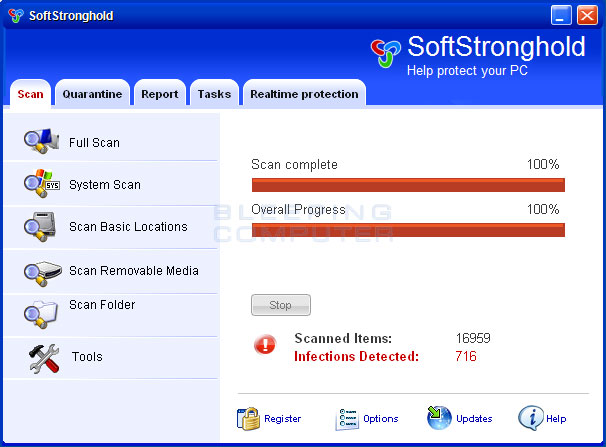 SoftStronghold screen shot