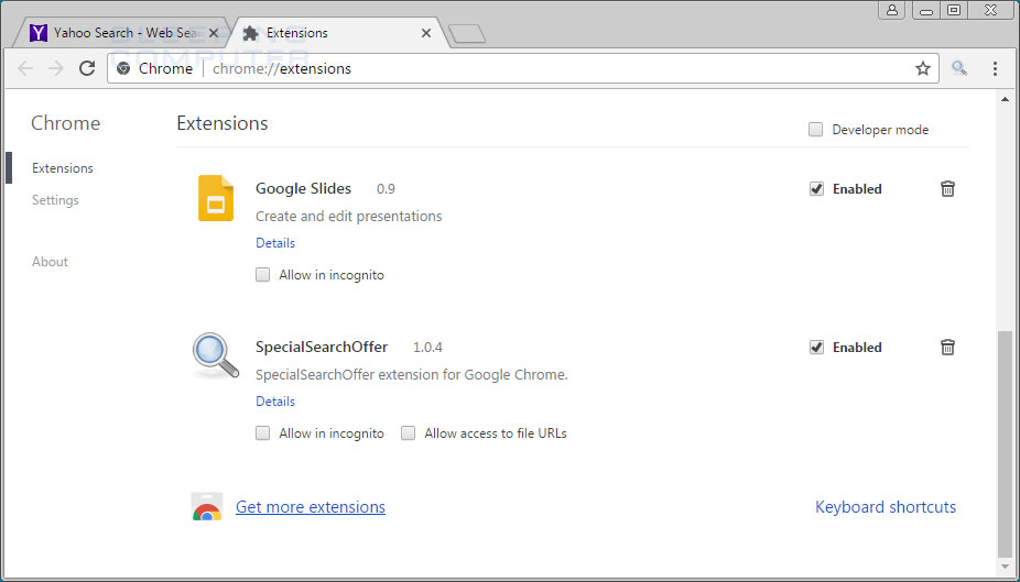 SpecialSearchOffer Extension