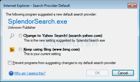 Search Provider Hijack