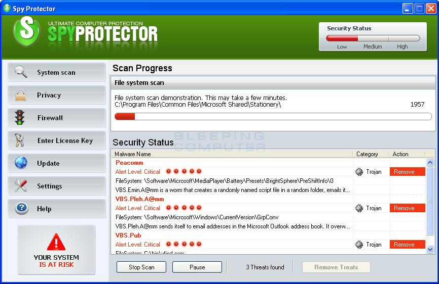 SpyProtector screen shot