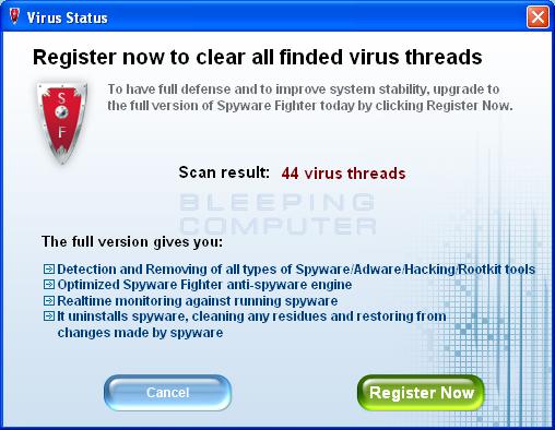 Scan Summary screen