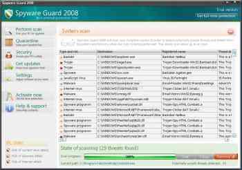 Spyware Guard 2008 and Spyware Guard 2009 Image