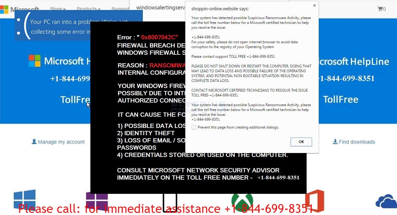 Remove the Suspicious Ransomware Activity Scam Popup