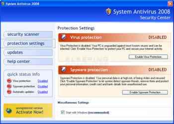 System Antivirus 2008 Image