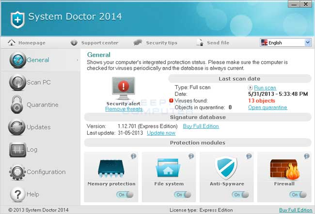 System Doctor 2014 screen shot
