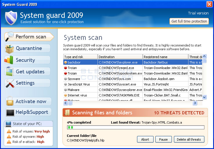 System Guard 2009 Screen shot