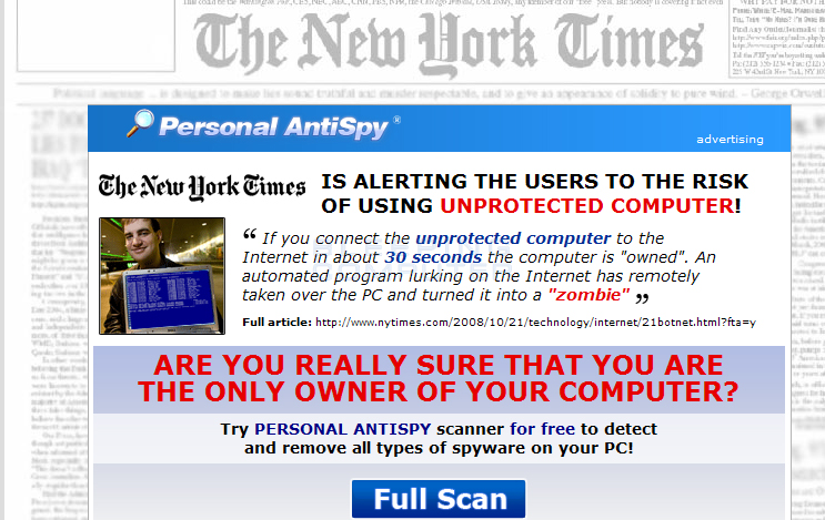 Advertisement for Personal Antispy