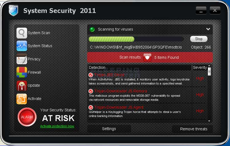 System Security 2011 screen shot